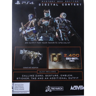 Call of Duty: Black Ops 4 Mystery Box code PS4