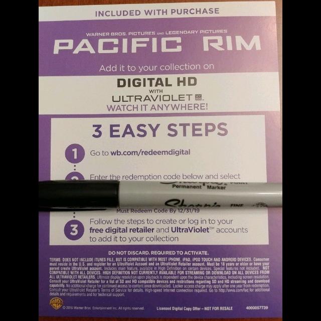 Pacific Rim Digital HD Movie Code - Digital Movies - Gameflip