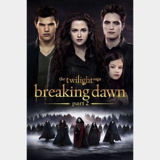 The Twilight Saga: Breaking Dawn - Part 2 Digital HD Movie Code Movieredeem.com