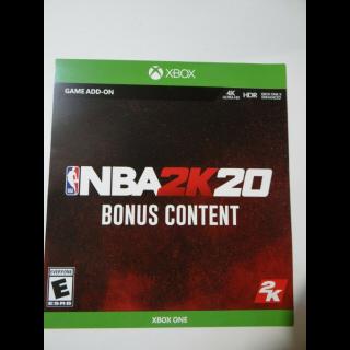 NBA 2K20 Bonus Content Xbox One