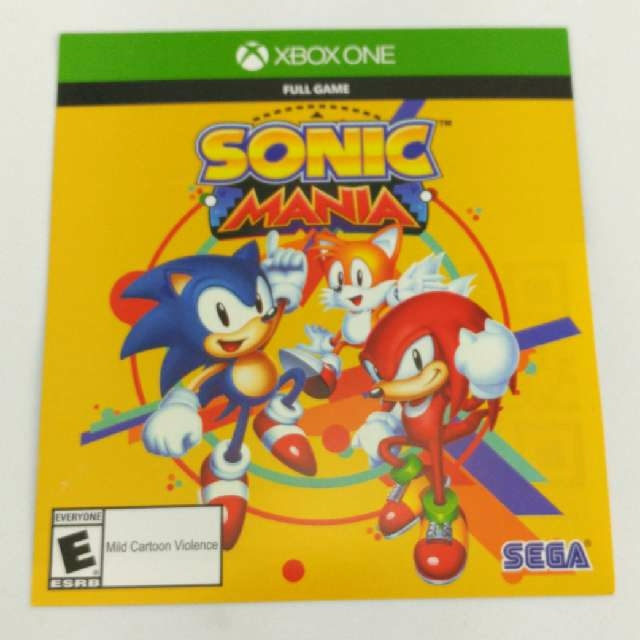 Sonic Mania XBOX ONE Download Code - XBox One Games - Gameflip