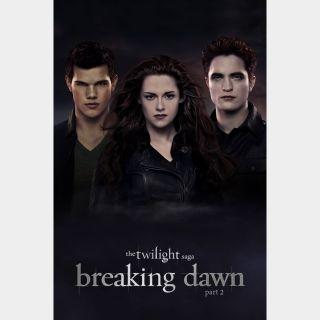 The Twilight Saga: Breaking Dawn - Part 2 Digital SD Movie Code VUDU
