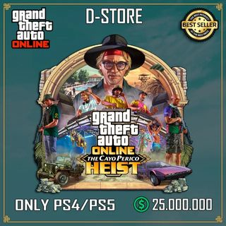 Shark Card Gta 5 PS4 or Ps5 Grand Theft Auto VOnline $ 25,000,000