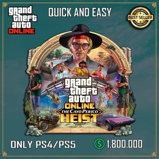 Shark Card Gta 5 PS4 or Ps5 Grand Theft Auto V Online $ 1,800,000