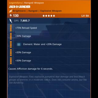 Jack O Launcher | x1 WATER 130 20/20