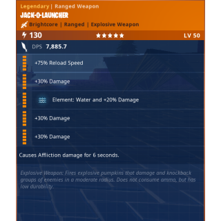 Jack O Launcher | x1 WATER 130 godroll
