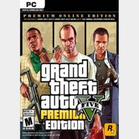 Grand Theft Auto V 5 (GTA 5): Premium Online Edition (PC) Worldwide