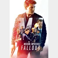 Mission: Impossible - Fallout (4K UHD iTunes or Vudu HD) Code Instant Delivery!
