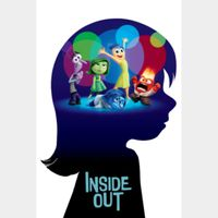 Inside Out (4K Movies Anywhere) Code Instant Delivery!