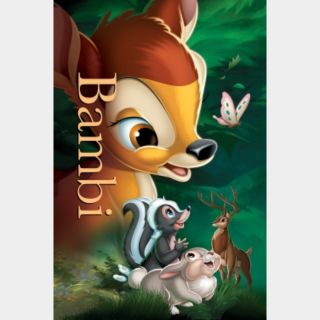 Bambi (Movies Anywhere HD) Code Instant Delivery!