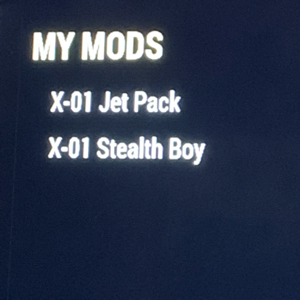 Other | X-01 Stealth Boy & Jet Pack MODS