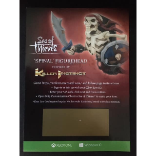 Sea Of Thieves Spinal Figurehead DLC Code [𝐈𝐍𝐒𝐓𝐀𝐍𝐓 𝐃𝐄𝐋𝐈𝐕𝐄𝐑𝐘]