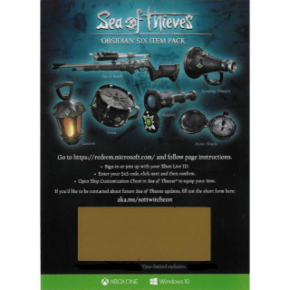 Sea Of Thieves Obsidian Six Item Pack Set DLC Code
