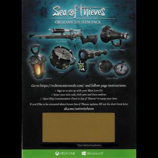 Sea Of Thieves Obsidian Six Item Pack Set DLC Code [𝐈𝐍𝐒𝐓𝐀𝐍𝐓 𝐃𝐄𝐋𝐈𝐕𝐄𝐑𝐘]
