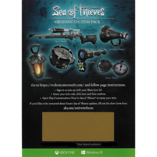 Sea Of Thieves Obsidian Six Item Pack Set DLC Code [𝐈𝐍𝐒𝐓𝐀𝐍𝐓 𝐃𝐄𝐋𝐈𝐕𝐄𝐑𝐘]