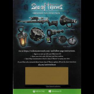 Sea Of Thieves Obsidian Six Item Pack Set DLC Code [𝐋𝐀𝐒𝐓 𝐎𝐍𝐄 𝐀𝐕𝐀𝐈𝐋𝐀𝐁𝐋𝐄]
