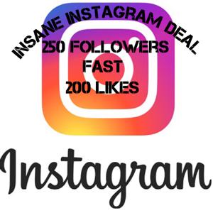 Bundle   250 followers and 200 likes