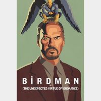 Birdman or (The Unexpected Virtue of Ignorance) - Digital HD Code - Instant Transfer