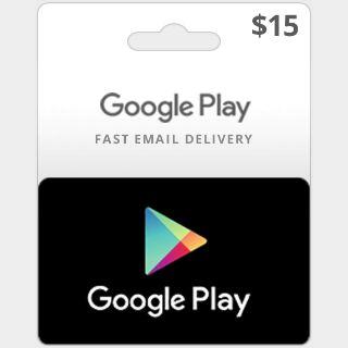$15.00 Google Play (US)