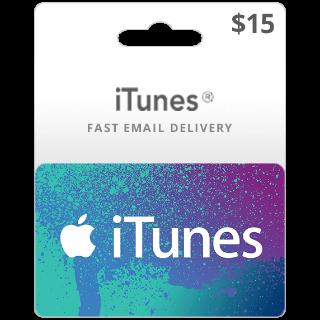 $15.00 iTunes US - 𝓐𝓾𝓽𝓸 𝓓𝓮𝓵𝓲𝓿𝓮𝓻𝔂