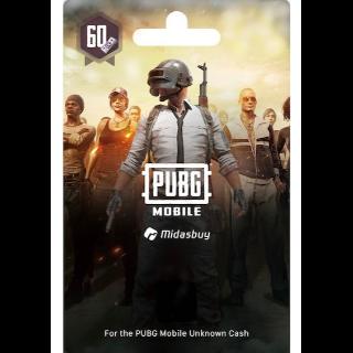 PUBG Mobile 60 UC (Global) - 𝓐𝓾𝓽𝓸 𝓓𝓮𝓵𝓲𝓿𝓮𝓻𝔂