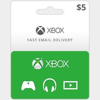 $5.00 Xbox Gift Card (US)