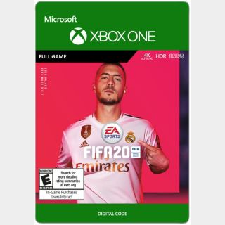 EA SPORTS™ FIFA 20 Xbox One Digital Code (AR - Argentina) - 𝓐𝓾𝓽𝓸 𝓓𝓮𝓵𝓲𝓿𝓮𝓻𝔂