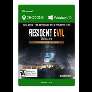 RESIDENT EVIL 7 biohazard Gold Edition Xbox One and Windows 10 PC Digital Code (AR) - 𝓐𝓾𝓽𝓸 𝓓𝓮𝓵𝓲𝓿𝓮𝓻𝔂