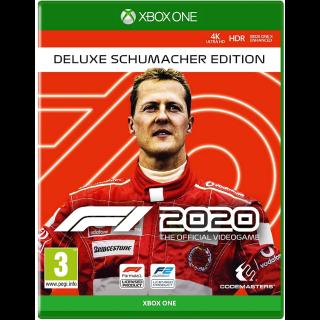 F1® 2020 Deluxe Schumacher Edition Xbox One Digital Code (AR) - 𝓐𝓾𝓽𝓸 𝓓𝓮𝓵𝓲𝓿𝓮𝓻𝔂
