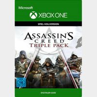 Pack triple Assassin's Creed: Black Flag, Unity, Syndicate Xbox One Digital Code (AR - Argentina) - 𝓐𝓾𝓽𝓸 𝓓𝓮𝓵𝓲𝓿𝓮𝓻𝔂