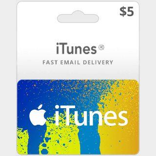 $5 iTunes US