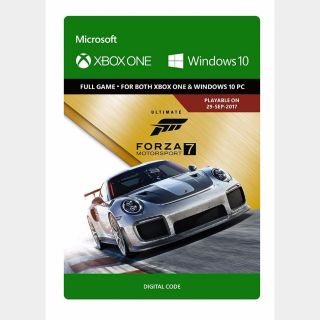 Forza Motorsport 7 Ultimate Edition Xbox One and Windows 10 PC Digital Code (AR - Argentina) - 𝓐𝓾𝓽𝓸 𝓓𝓮𝓵𝓲𝓿𝓮𝓻𝔂