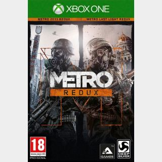 Metro Redux Bundle Xbox One Digital Code (AR - Argentina) - 𝓐𝓾𝓽𝓸 𝓓𝓮𝓵𝓲𝓿𝓮𝓻𝔂