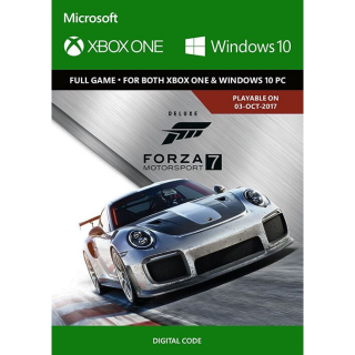 Forza Motorsport 7 Deluxe Edition Xbox One and Windows 10 PC Digital Code (AR - Argentina) - 𝓐𝓾𝓽𝓸 𝓓𝓮𝓵𝓲𝓿𝓮𝓻𝔂