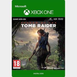 Shadow of the Tomb Raider Definitive Edition Extra Content Xbox One Digital Code (AR - Argentina) - 𝓐𝓾𝓽𝓸 𝓓𝓮𝓵𝓲𝓿𝓮𝓻𝔂