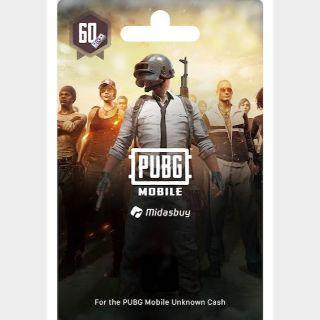 $1 PUBG Mobile 60 UC (US)