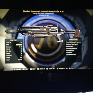 Weapon   bloodied assault rifle