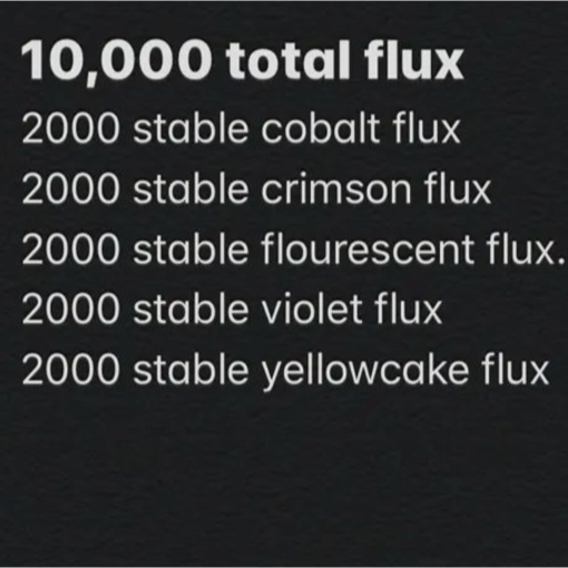 Junk | 2000 of each stable flux