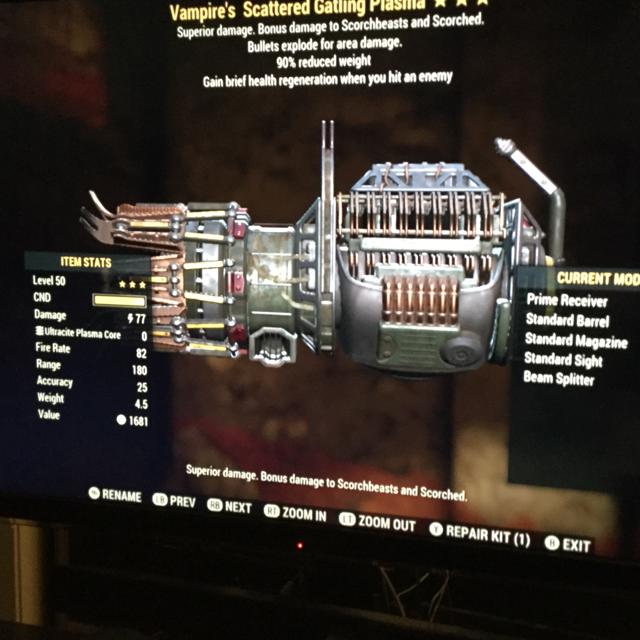Weapon | ve  Gatling plasma