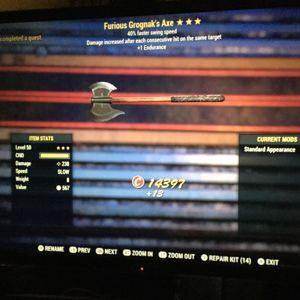 Weapon | furious grognak axe ss
