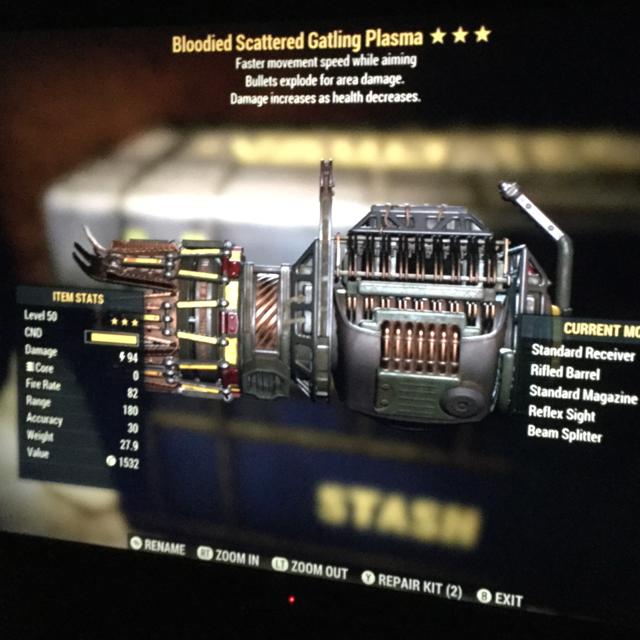 Weapon | be Gatling plasma