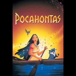 Pocahontas(Redeems  on Moviesanywhere or Vudu + Disney Points)