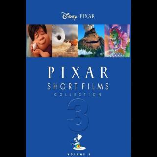 Pixar Short Films Collection: Volume 3(Redeems on Moviesanywhere or Vudu + Disney Points)