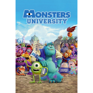 Monsters University (Redeems on Moviesanywhere or Vudu + Disney Points)