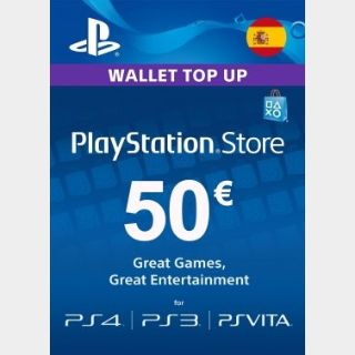 €50.00 PlayStation Store Spain