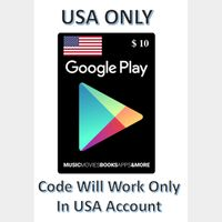 $10.00 USA ONLY Google Play Gift Card [Instant Delivery]