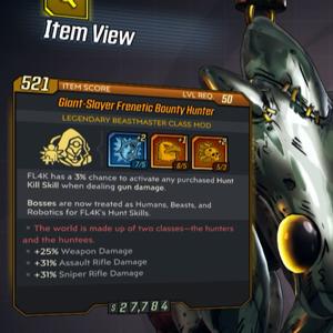 Class Mod   Giant-Slayer Frenetic Bounty Hunter