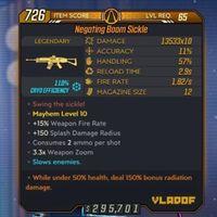 Weapon | M10/Lvl65 ❄️Boom Sickle
