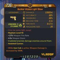 Weapon | M10/Lvl65☢️IC Lightshow