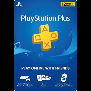 PlayStation Plus - 12 Month Membership (US)